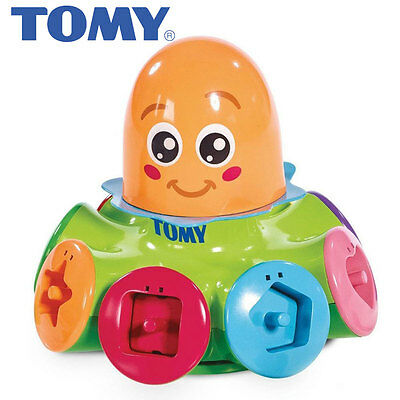 Tomy 72423 Sort and Pop Spinning Top Octopus includes 8 shapes suitable 10m+