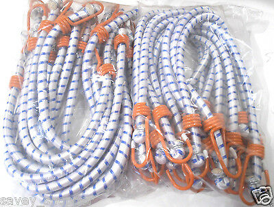 "(24) 24"" (2 Ft.) Heavy Duty Orange Hook Bungee Cord Tie Down Strap 24 Pc. Set"
