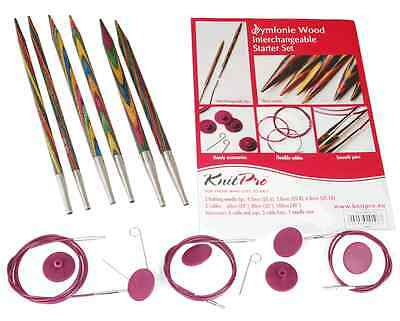 KnitPro KP20604 | Symfonie Starter Interchangeable Circular Knitting Needle Set