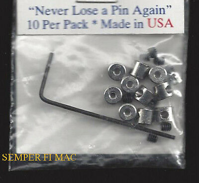 10 Locking Crome Metal Clutch Pin Backs With Key Tie Tac Usaf Pin Up Made In Us