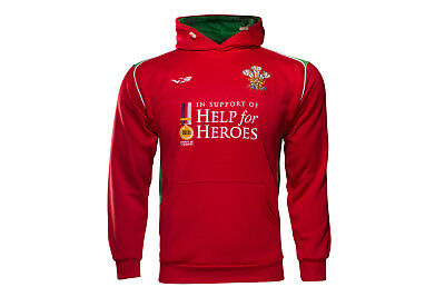 VX-3 Mens Help for Heroes Wales 2016/17 Hooded Rugby Sweat Top Training Sports