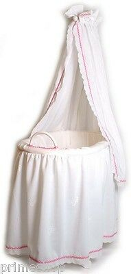 Dolls bed Canopy bed Cradle made from wood with Linen ca. 60 x 35 x 104 cm new