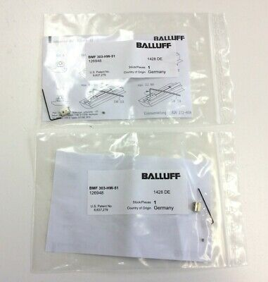 Lot of 2 Balluff BMF 303-HW-51 Magnetic Field Sensor Aluminum Mounting Clamp