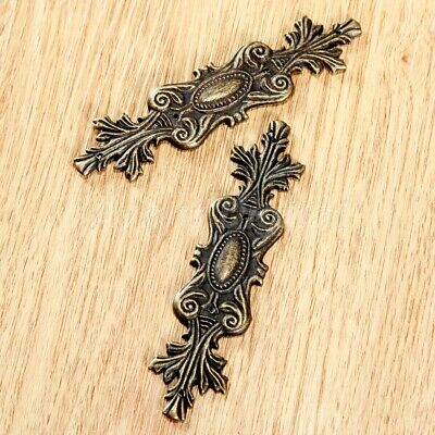 2/6/10pcs Antique Bronze Wooden Chest Gift Case Jewelry Box Corner Bracket Decor