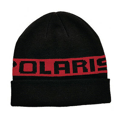 OEM Polaris Red Classic Cuff Beanie Snowmobile Winter Hat One Size Fits Most