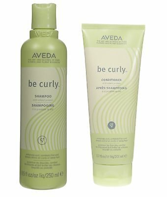 Aveda Be Curly Conditioner 6.7oz and Shampoo 8.5 oz Duo Set for All Hair Types
