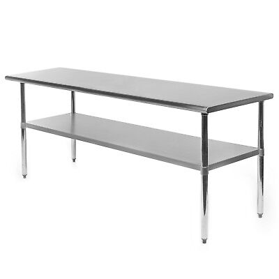 "Commercial Stainless Steel Kitchen Food Prep Work Table - 24"" x 72"""