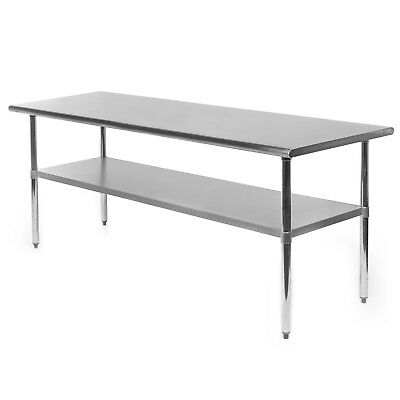 "Commercial Stainless Steel Kitchen Food Prep Work Table - 30"" x 72"""