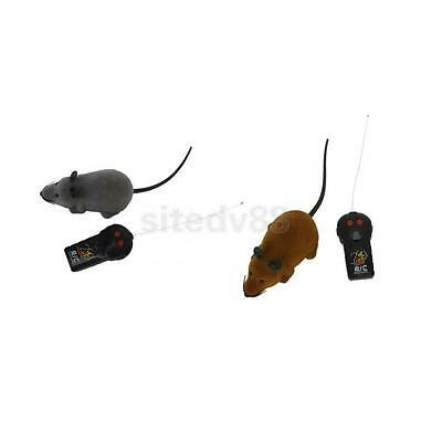 2pcs RC Toy Two Channel Remote Control Rats Mouse for Home Kids Cat Funny