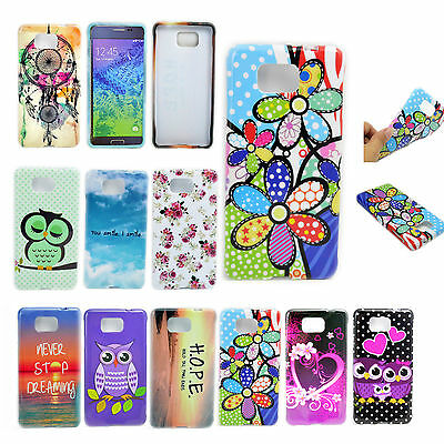 Soft Rubber TPU Phone Back Case Skin Cover For Samsung Galaxy Alpha SM-G850F