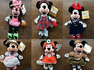 "Disney Birthstones Birthday BeanBag Minnie 9"" Dolls Collection Retired NEW wTags"