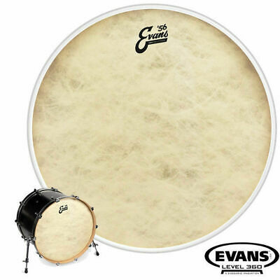 Evans Calftone 56 Resonant 22 inch Front Bass Drum Skin Head Level 360 BD22CT