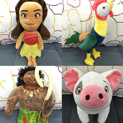 Cute Kid Children Moana Adventure Collection Charms Plush Soft Toy Accessories