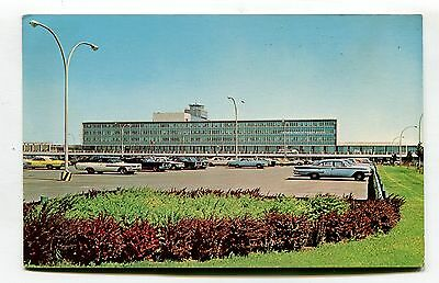 Montreal - Dorval International Airport from car park - 1960's postcard