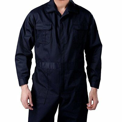 Black BOILER SUIT OVERALL COVERALL Mechanic college work MEN 100% New UK Shop @H