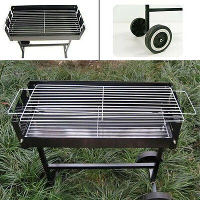 Bbq Barbecue Grill Portable Charcoal Garden Travel Outdoor Camping Uk Le