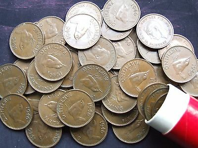 1946 Wren Farthings, YOU GET TEN COINS, Party/Birthday Gift - FREE POSTAGE (S61)