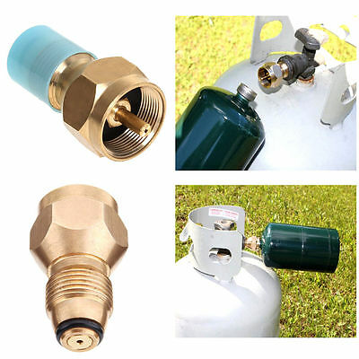Refill small 1 LB Propane Bottle tanks camping fishing adapter Lp Gas Cylinder