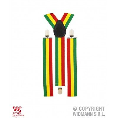 Jamaica Braces Suspenders for Jamaican Rastaman Reggae Fancy Dress