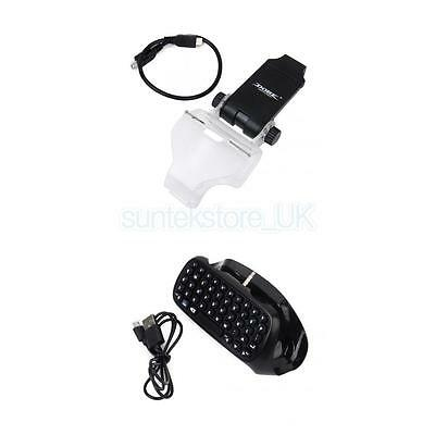 Wireless Bluetooth Keyboard and Phone Bracket Holder for Sony PS4 Controller