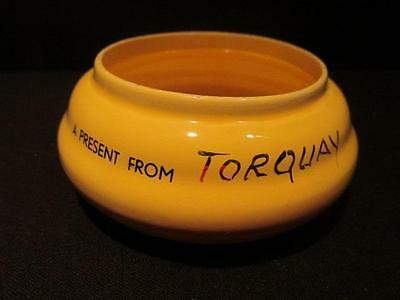 A Present from Torquay Vintage Yellow Beehive Shaped Dish made in Holland