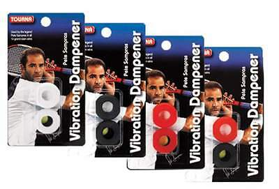 Tourna Pete Sampras Vibration Dampeners - Choice Of Colours - Free P&P