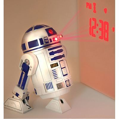 Official Star Wars R2-D2 Projection Alarm Clock (FREE P+P)