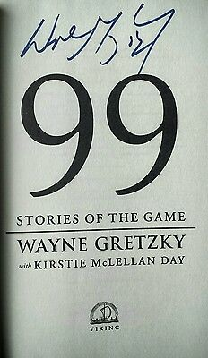 Wayne Gretzky Rare Autographed First Edition Hardcover Book Signed 99 Stories