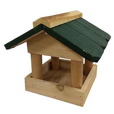 Bird Table Wooden Hanging Feeding House for Small Wild Garden Bird Feeder 955007