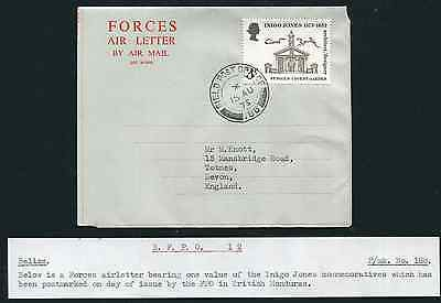 BELIZE: (14092) FPO 188 cancel/Forces Air Letter