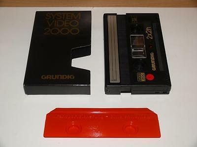 V2000 / Video 2000 ~ Grundig System Video 2000 VCC 240 Video Compact Cassette