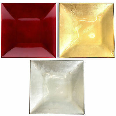 Set Of Square Charger Under Plates Plastic Wedding Table Decoration Placemats