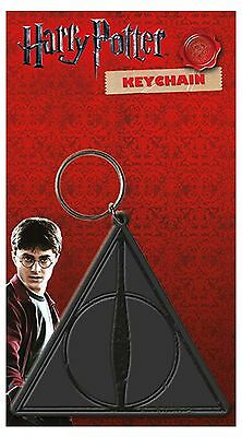 Harry Potter Keyring Keychain The Deathly Hallows Symbol Logo Official Rubber