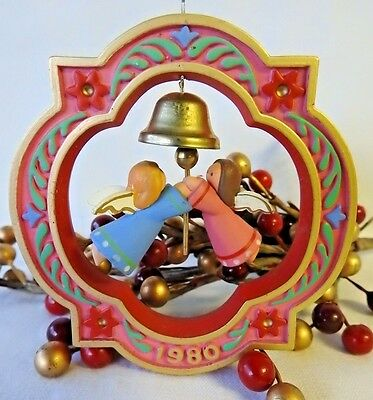 Hallmark Ornament   1980 Twirl-About Heavenly Sounds Angels Bell Ringers