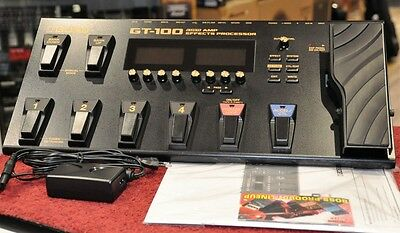 BOSS GT-100 V2 Guitar Effects Processor with AC Adaptor GT100 - Free World Ship!