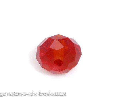 Wholesale W09 Red Crystal Glass Faceted Rondelle Beads 5040 6mm