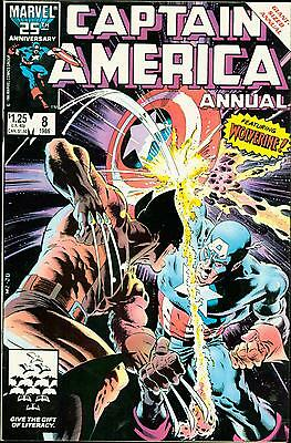 Captain America Annual #8 classic Mike Zeck vs Wolverine Cover NM+