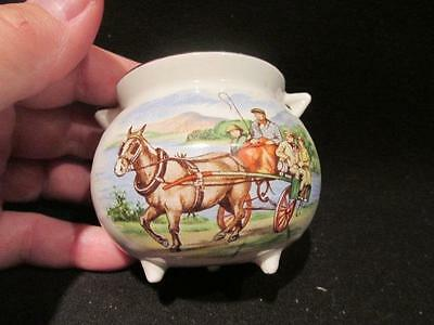 Arklow Made in Republic of Ireland Souvenir Pot of Gold Horse Cart Design