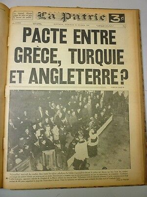 Original Historical Bounded Newspaper Montreal La Patrie January-February 1941