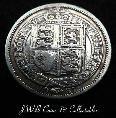 1887 Queen Victoria Jubilee Head Silver 6d Sixpence Coin  - Ref; t/m..