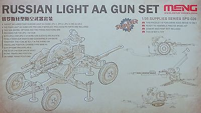 MENG MODEL SPS-026 Russian Light AA Gun Set ZPU-4, ZPU-1, ZPU-2, ZU-23-2 in 1:35