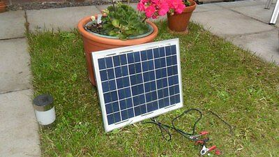 NEW 10W 12v Energy+ Poly Solar Battery Trickle Charger - 1.3Kg - TUV ISO UK