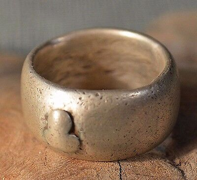 Antique Ethiopian Ethnic Coin Silver Ring From Ethiopia Africa, Ring Size 9 1/2