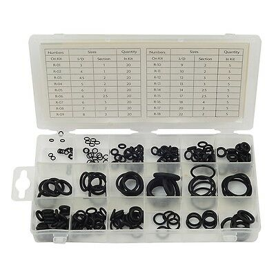 225 Piece O Ring Assortment - Rolson 225pc Contains 18 Sizes Pieces Gasket