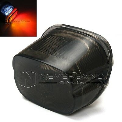 LED Smoke Tail Light License Plate Brake For Harley Softail Dyna Sportster 96-08