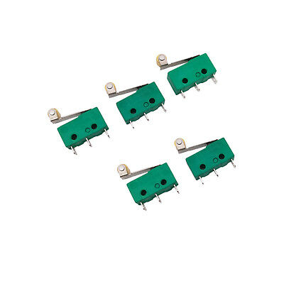 5 pcs KW4-3Z-3 SPDT NO NC Momentary Hinge Lever Limit Switch Microswitch