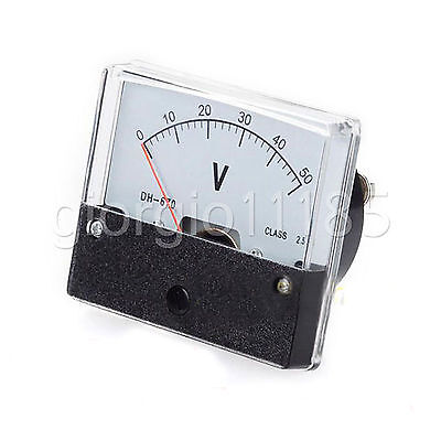 US Stock Analog Panel Volt Voltage Meter Voltmeter Gauge DH-670 0-50V DC