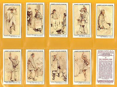 Lambert & Butler cigarette cards - LONDON CHARACTERS - Full mint condition set.