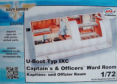 "MPM N72016 Detail Resin Set ""Officers´Ward Room"" for Revell® U-Boot IXC in 1:72"