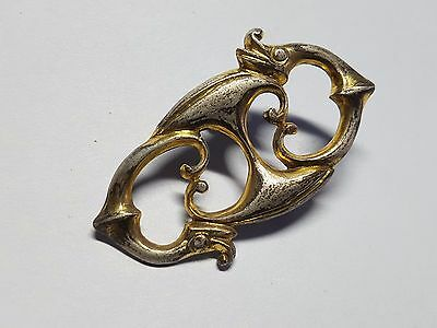 ROMAN   SILVER GOLD PLATED  BROOCH  4th  Century AD